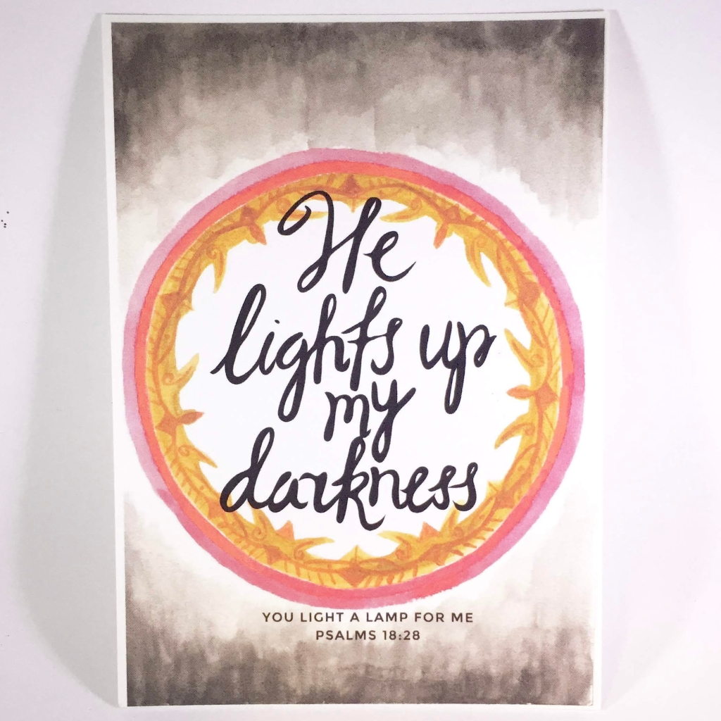 he lights up my darkness